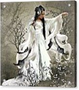 Oriental Sprinkle Acrylic Print