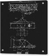 Original 1906 Wright Brothers Full Patent Acrylic Print