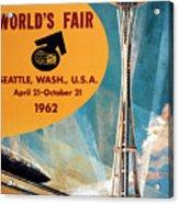 Original 1962 Seattle Worlds Fair Promotion Acrylic Print