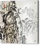 Original Chinese Nature Scene Acrylic Print
