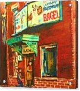 Original Fairmount Bagel Acrylic Print