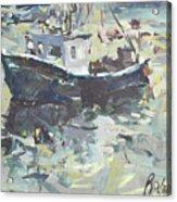 Original Lobster Boat Painting Acrylic Print