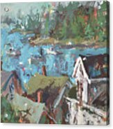 Original Modern Abstract Maine Landscape Painting Acrylic Print