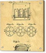 Original Patent For Canning Jars Acrylic Print