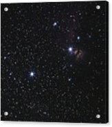 Orions Belt, Horsehead Nebula And Flame Acrylic Print