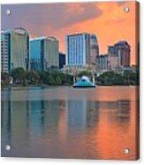 Orlando Cityscape Sunset Acrylic Print