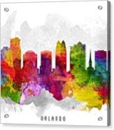 Orlando Florida Cityscape 13 Acrylic Print