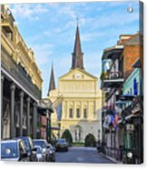 Orleans Street And St Louis Cathedral Acrylic Print