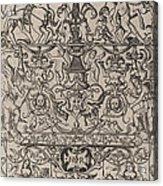 Ornament Panel: Mars, God Of Battles Acrylic Print