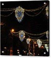 Ornamental Design Christmas Light Decoration In Madrid, Spain Acrylic Print