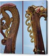 Ornamental Dragon Diptych Acrylic Print
