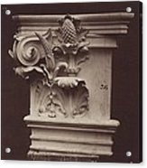 Ornamental Sculpture From The Paris Opera House (column Detail) Acrylic Print