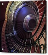 Ornamented Metal Spiral Staircase Acrylic Print
