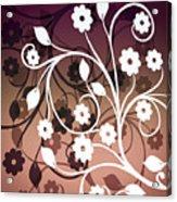 Ornametal 2 Purple Acrylic Print