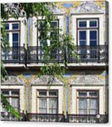Ornate Building Facade In Lisbon Portugal Acrylic Print