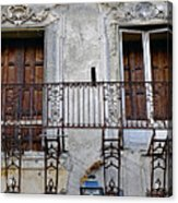 Ornate Weathered Artistic Architecture Acrylic Print