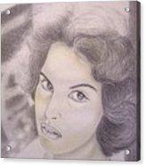 Ornella Vanoni Portrait Acrylic Print