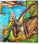 Ornithocheirus By The Sea Acrylic Print