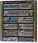 Orpheum Theater Playbill Acrylic Print