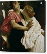 Orpheus And Euridyce Acrylic Print by Frederic Leighton