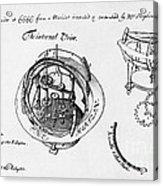 Orrery By Stephen Hales, 1705 Acrylic Print