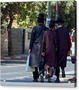 Orthodox Jews In Jerusalem Acrylic Print