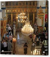 Orthodox Mass Acrylic Print