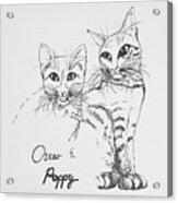 Oscar And Poppy Acrylic Print