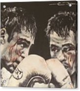 Oscar De La Hoya Vs Manny Pacquiao Acrylic Print