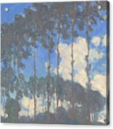 Oscar Monet   Poplars On The Epte Acrylic Print