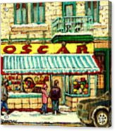 Oscar 's Candy Store Montreal Acrylic Print
