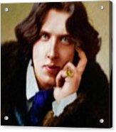 Oscar Wilde, Literary Legend Acrylic Print