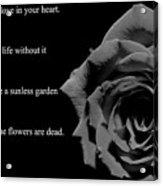Oscar Wilde Love Quote Acrylic Print