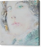 Oscar Wilde - Watercolor Portrait.7 Acrylic Print
