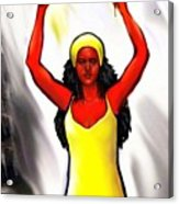 Oshun -goddess Of Love -4 Acrylic Print by Carmen Cordova