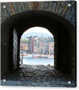 Oslo Castle Archway Acrylic Print by Carol Groenen
