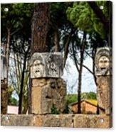 Ostia Antica - Theatre Marble Masks Acrylic Print