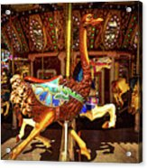 Ostrich Carousel Ride Acrylic Print