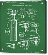 Otoscope Patent 1927 Green Acrylic Print