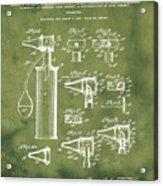 Otoscope Patent 1927 Grunge Acrylic Print