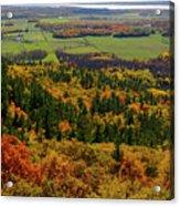 Ottawa River Valley In Fall At Tawadina Lookout At End Of Blanch Acrylic Print
