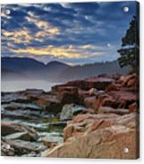 Otter Cove In The Mist Acrylic Print