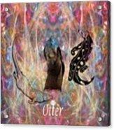 Otter Moon Acrylic Print