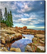 Otter Point Reflections Acrylic Print