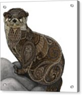 Otter Tangle Acrylic Print
