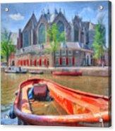 Oude Kerk Acrylic Print