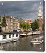 Oudeschans And Montelbaanstoren. Amsterdam. Netheralnds. Europe Acrylic Print