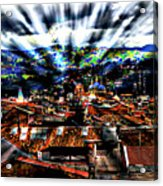 Our City In The Andes Acrylic Print