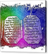 Our Father Who Art In Heaven Cool Rainbow 3 Dimensional Acrylic Print