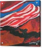 Our Flag Their Oil Acrylic Print
